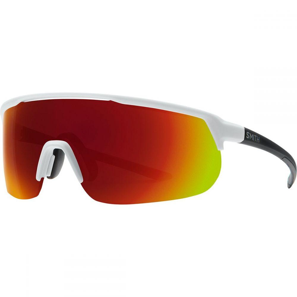 スミス Smith レディース スポーツサングラス 【Trackstand ChromaPop Sunglasses】Matte White/Sun Red Mirror