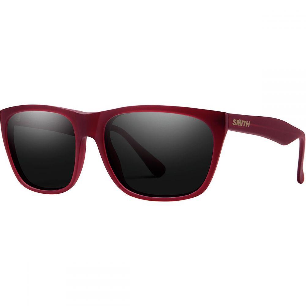 スミス Smith レディース メガネ・サングラス 【Tioga Carbonic Sunglasses】Matte Crystal Deep Maroon/Blackout