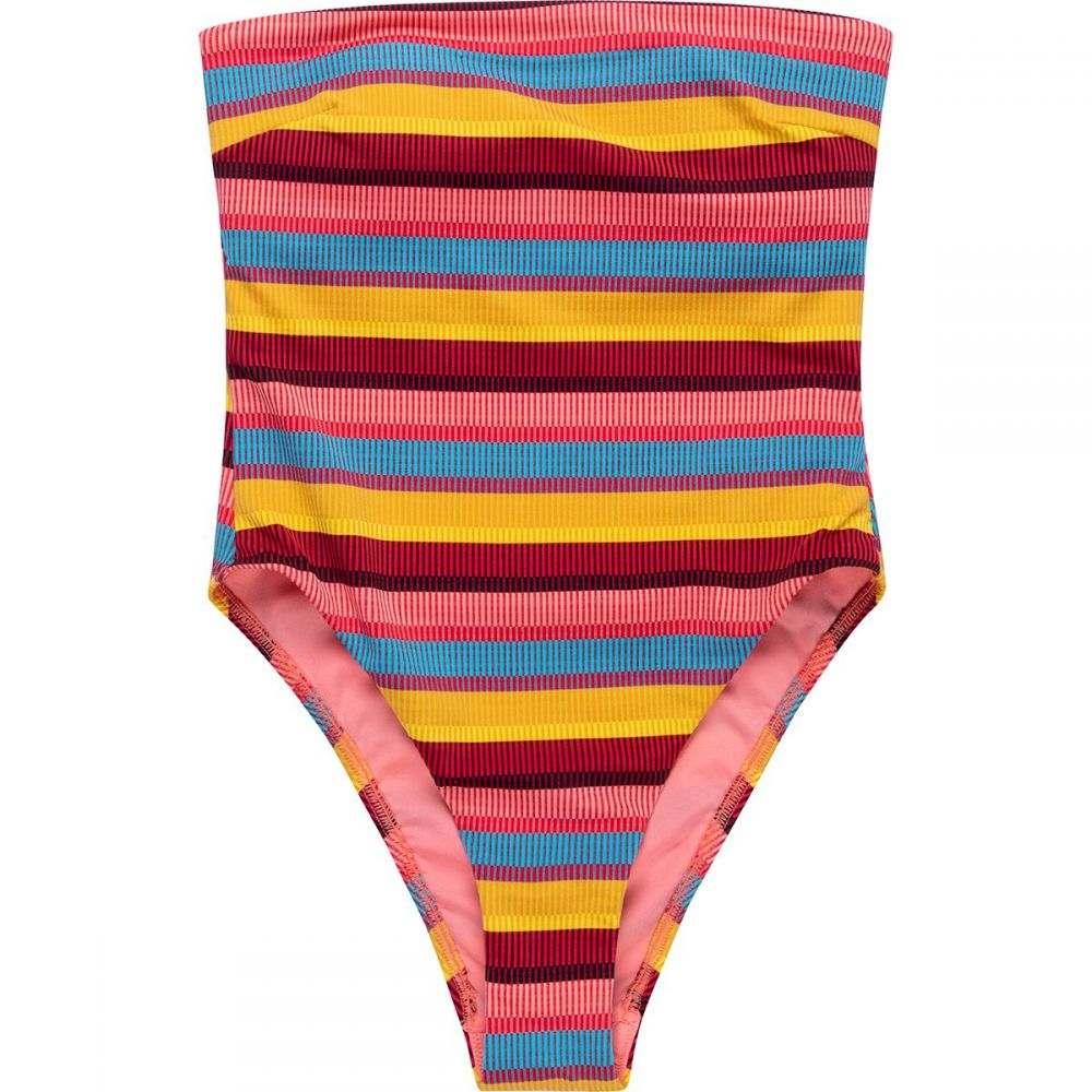 シーフォリー Seafolly レディース ワンピース 水着・ビーチウェア【BajaStripe Tube Maillot Swimsuit】Saffron