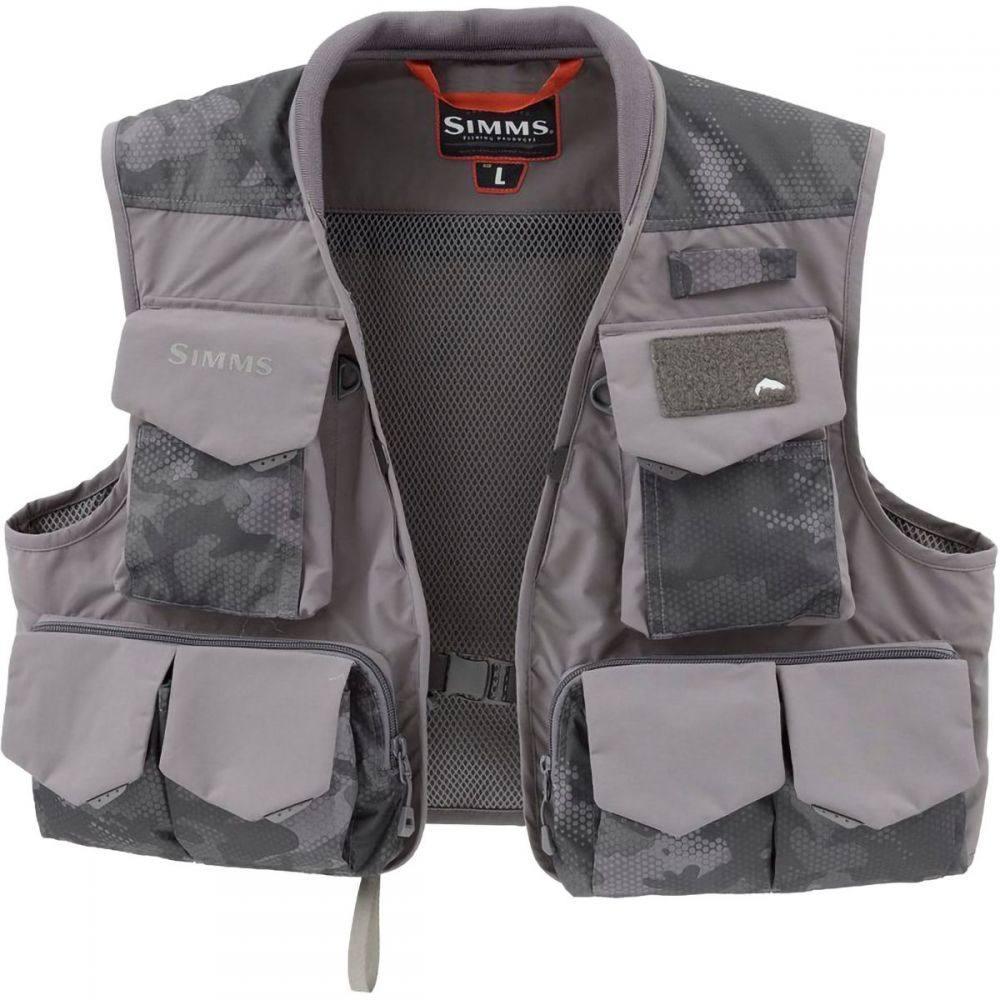 シムス Simms メンズ 釣り・フィッシング ベスト・ジレ トップス【Freestone Vest】Hex Flo Camo Carbon