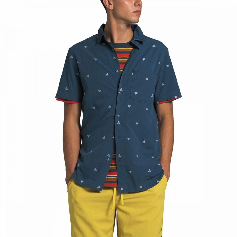 ザ ノースフェイス The North Face メンズ 半袖シャツ トップス【Short Sleeve Baytrail Shirt】Shady Blue Arrowhead Jacquard