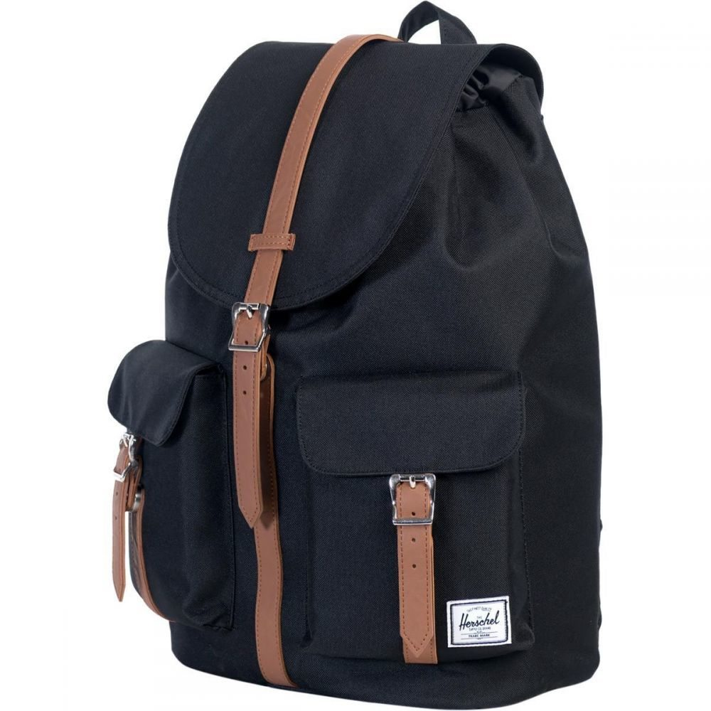 ハーシェル サプライ Herschel Supply レディース バックパック・リュック バッグ【Dawson 20.5L Backpack】Black/Tan Synthetic Leather