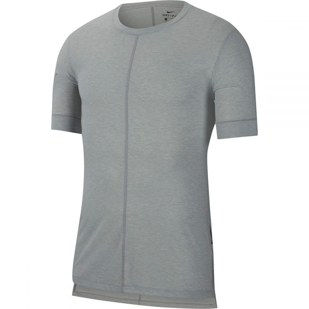 ナイキ Nike メンズ Tシャツ トップス【Dry Yoga Short - Sleeve Top】Light Smoke Grey/Heather/Black