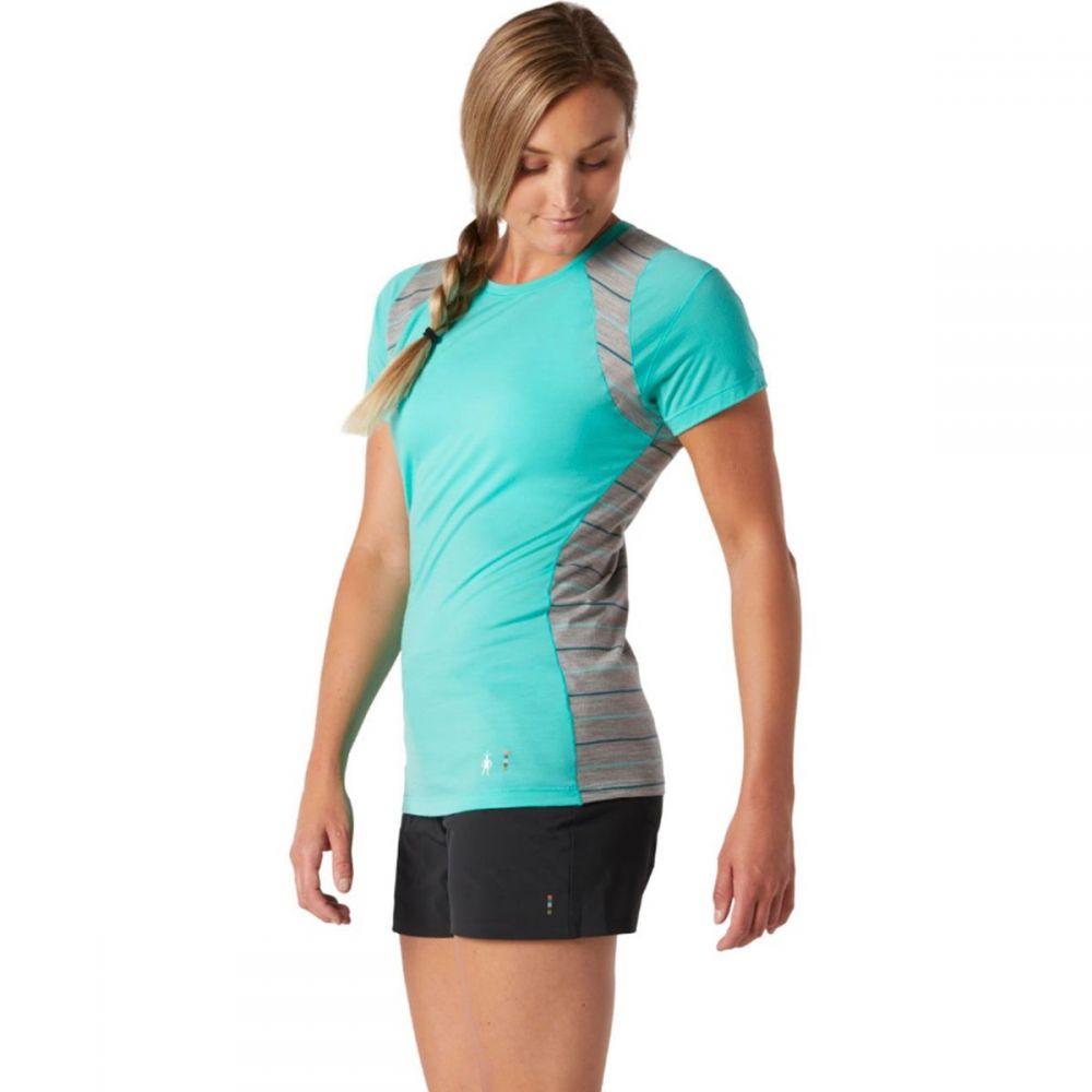 スマートウール Smartwool レディース トップス ベースレイヤー【Merino 150 Baselayer Colorblock Short - Sleeve Top】Oasis
