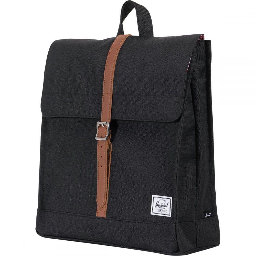 ハーシェル サプライ Herschel Supply レディース バックパック・リュック バッグ【City Mid - Volume 14L Backpack】Black/Tan Synthetic Leather