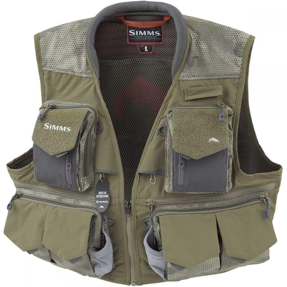 シムス Simms レディース 釣り・フィッシング ベスト・ジレ トップス【Guide Vest】Hex Camo Loden