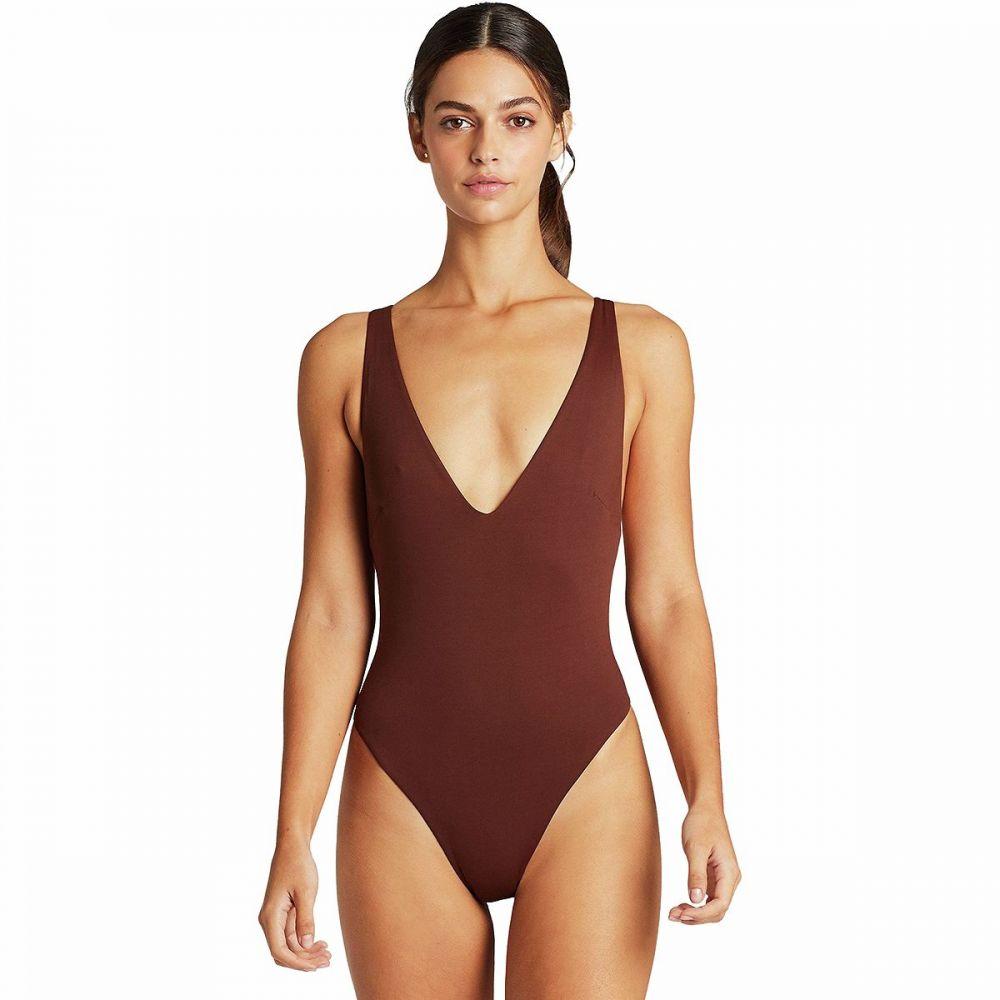 ビタミン A Vitamin A レディース ワンピース 水着・ビーチウェア【Alana Full Cut Bodysuit】Vintage Brown EcoLux