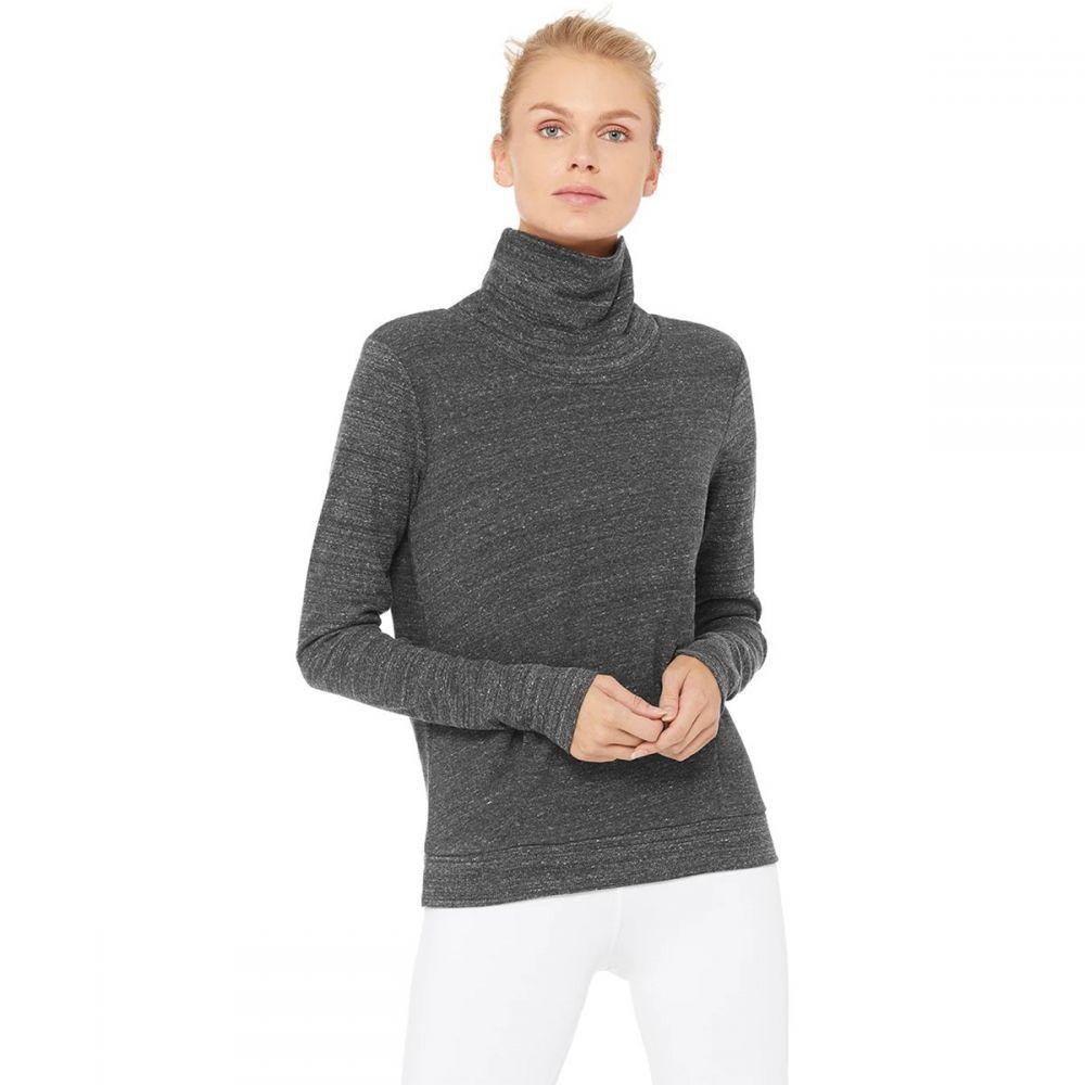 アローヨガ ALO YOGA レディース スウェット・トレーナー トップス【Clarity Long - Sleeve Sweatshirt】Anthracite Heather