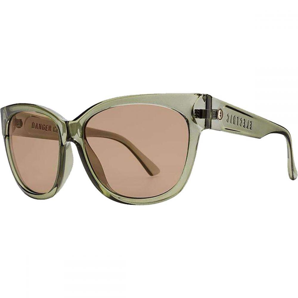 エレクトリック Electric レディース メガネ・サングラス 【Danger Cat Sunglasses】Gloss Olive/Light Bronze