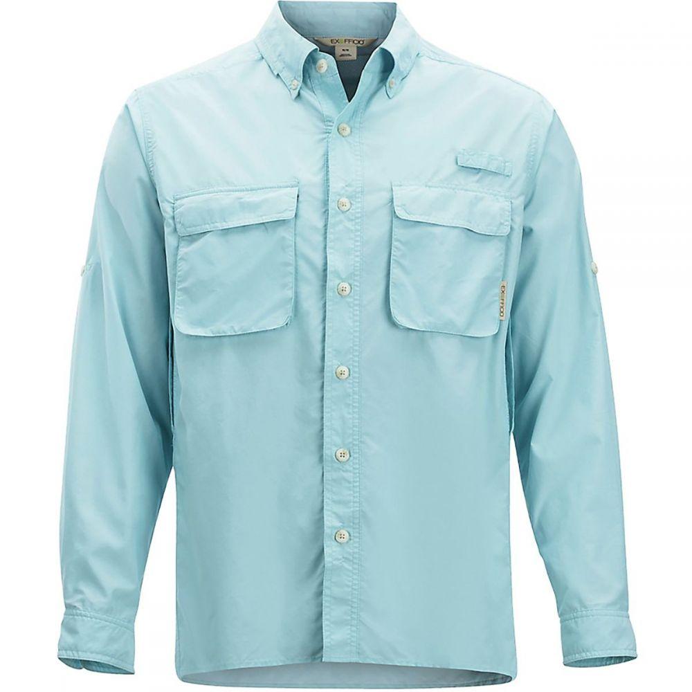エクスオフィシオ ExOfficio メンズ シャツ トップス【Air Strip Long - Sleeve Shirt】Air Blue