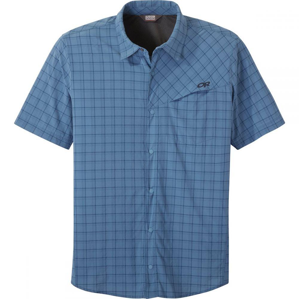 アウトドアリサーチ Outdoor Research メンズ 半袖シャツ トップス【Astroman Shirt - Short - Sleeve】Peak Blue