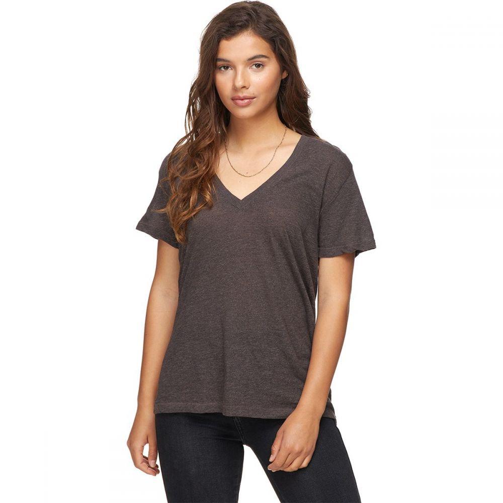 モンロー Monrow レディース Tシャツ Vネック トップス【Granite Oversized V - Neck Shirt】Dusk