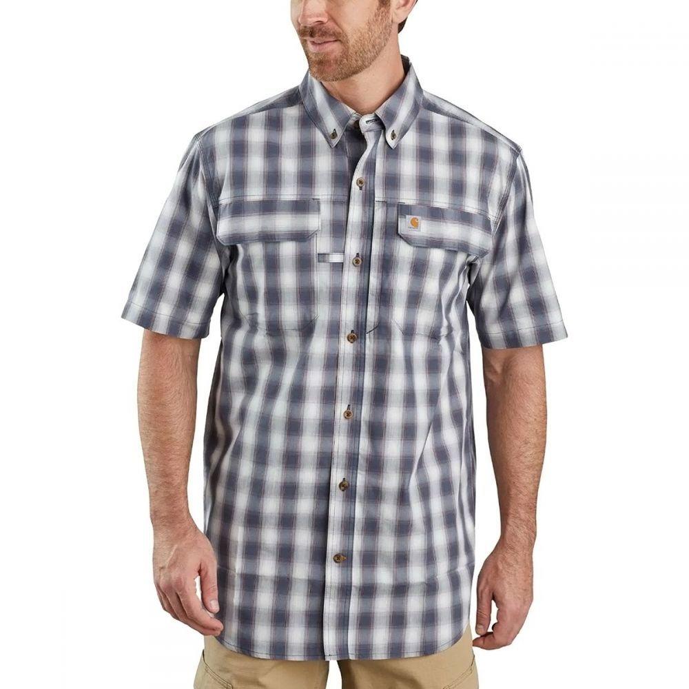 カーハート Carhartt メンズ 半袖シャツ トップス【TW258 Force Relaxed Fit Plaid Shirt】Bluestone
