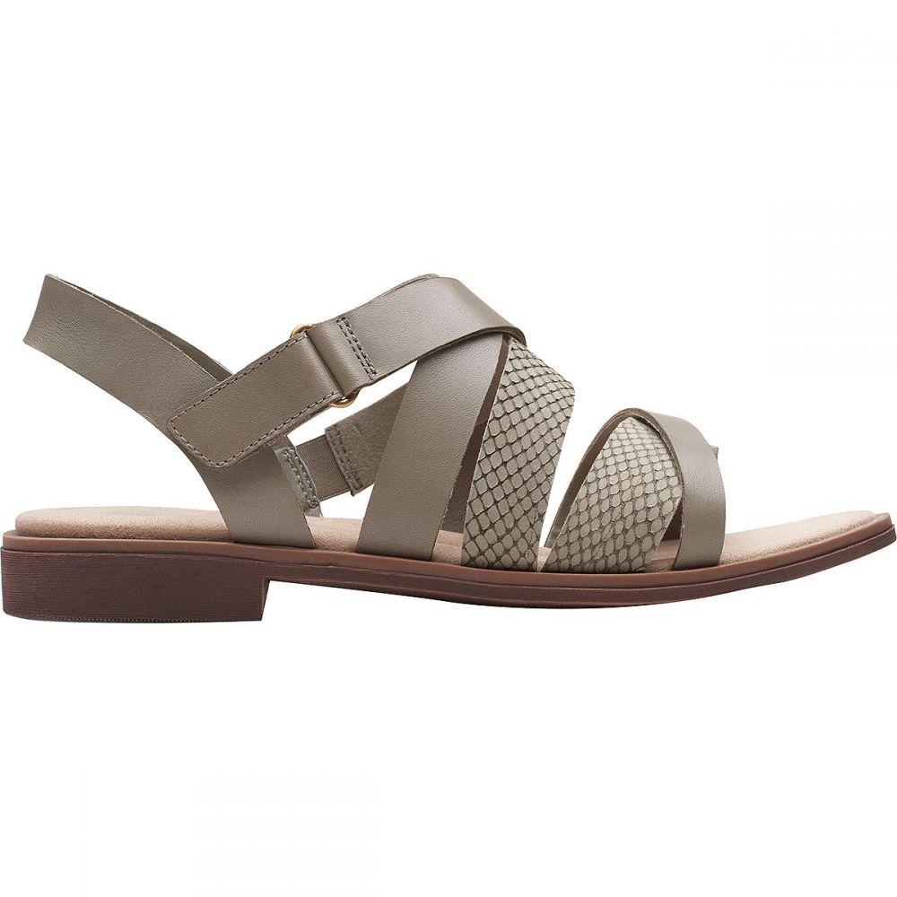 クラークス Clarks レディース サンダル・ミュール シューズ・靴【Declan Mix Sandal】Sage Leather/Nubuck Combi