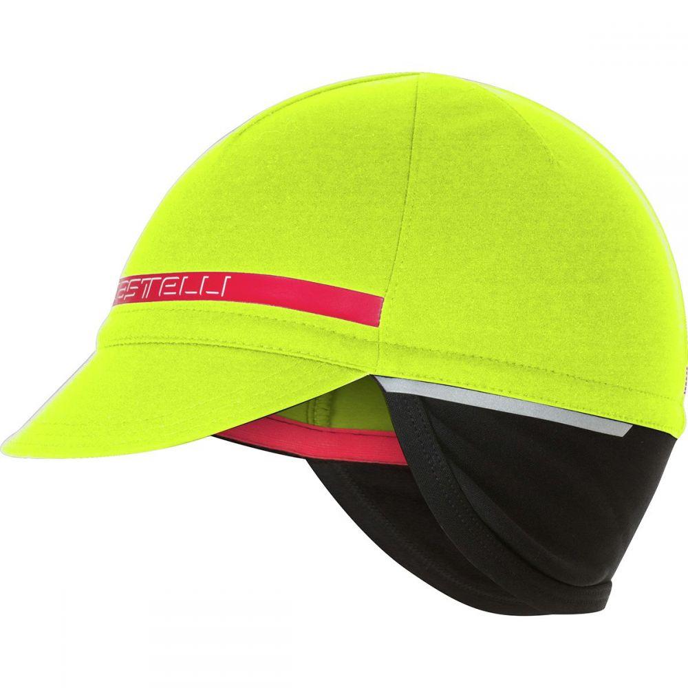 カステリ Castelli レディース 帽子 【Difesa 2 Cap】Yellow Fluo