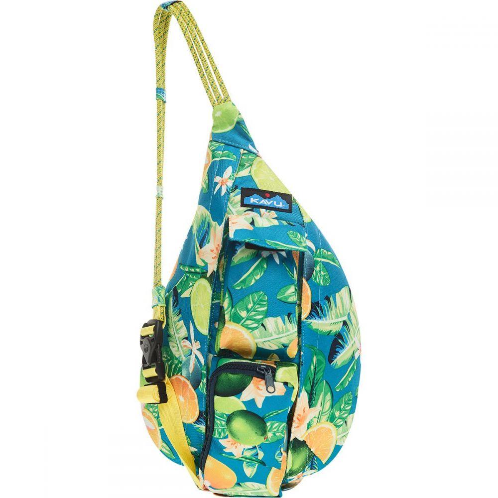カブー KAVU レディース ボディバッグ・ウエストポーチ バッグ【Mini Rope Sling Pack】Ocean Citrus