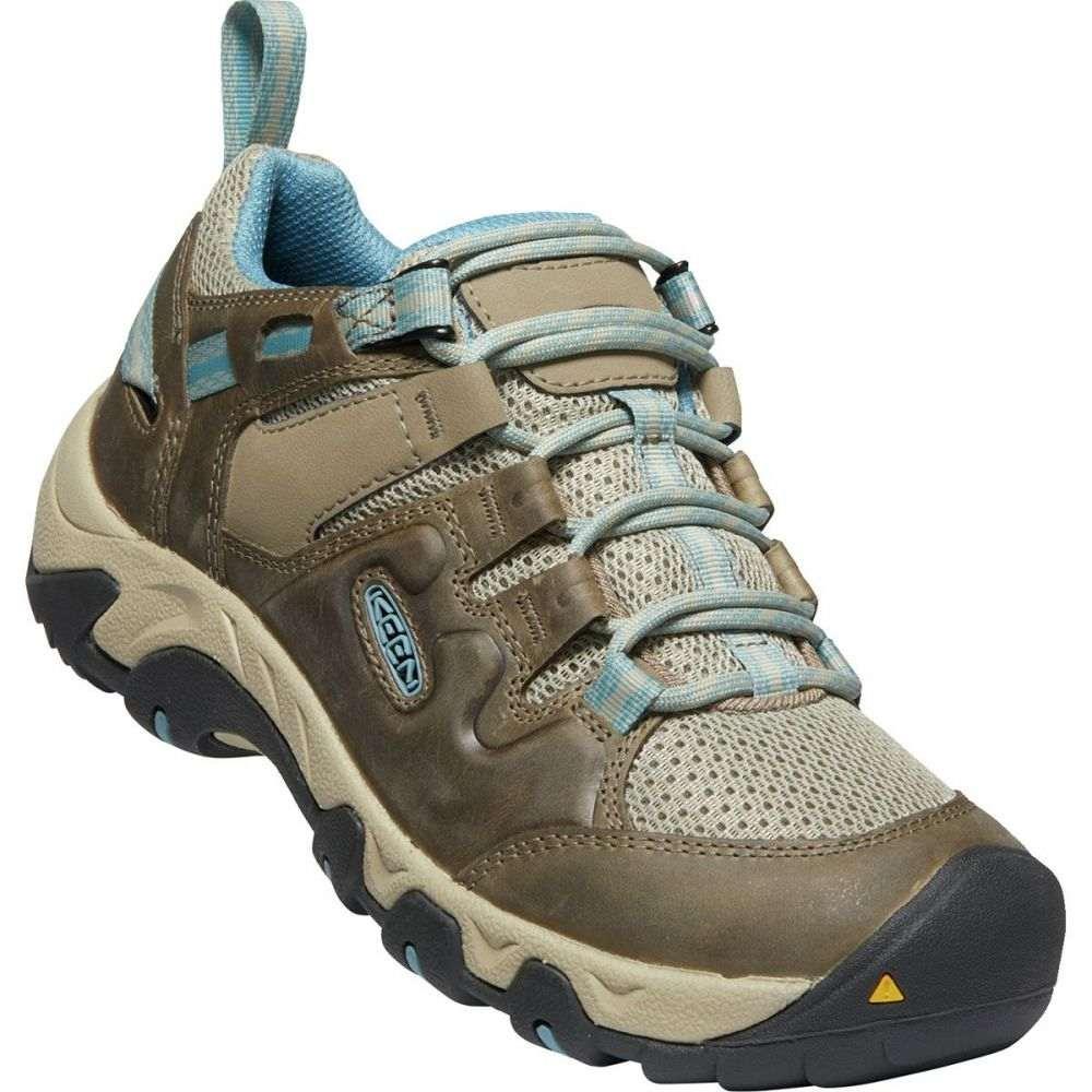 キーン KEEN レディース ハイキング・登山 シューズ・靴【Steens Vent Hiking Shoe】Timberwolf/Atlantic Blue