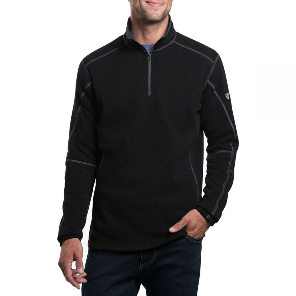 キュール KUHL メンズ フリース トップス【Revel 1/4 - Zip Sweater】Black