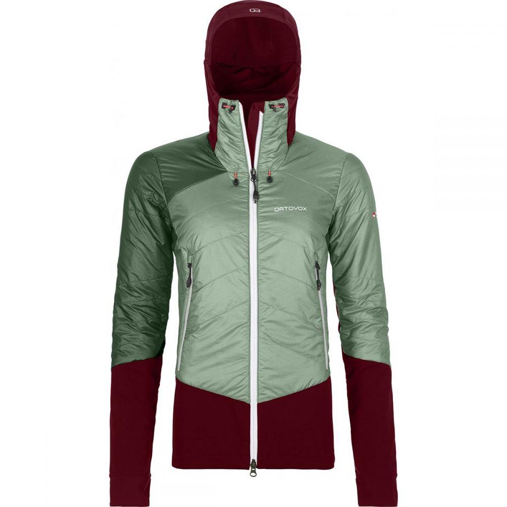 オルトボックス Ortovox レディース ダウン・中綿ジャケット アウター【Swisswool Piz Palu Jacket】Green Isar