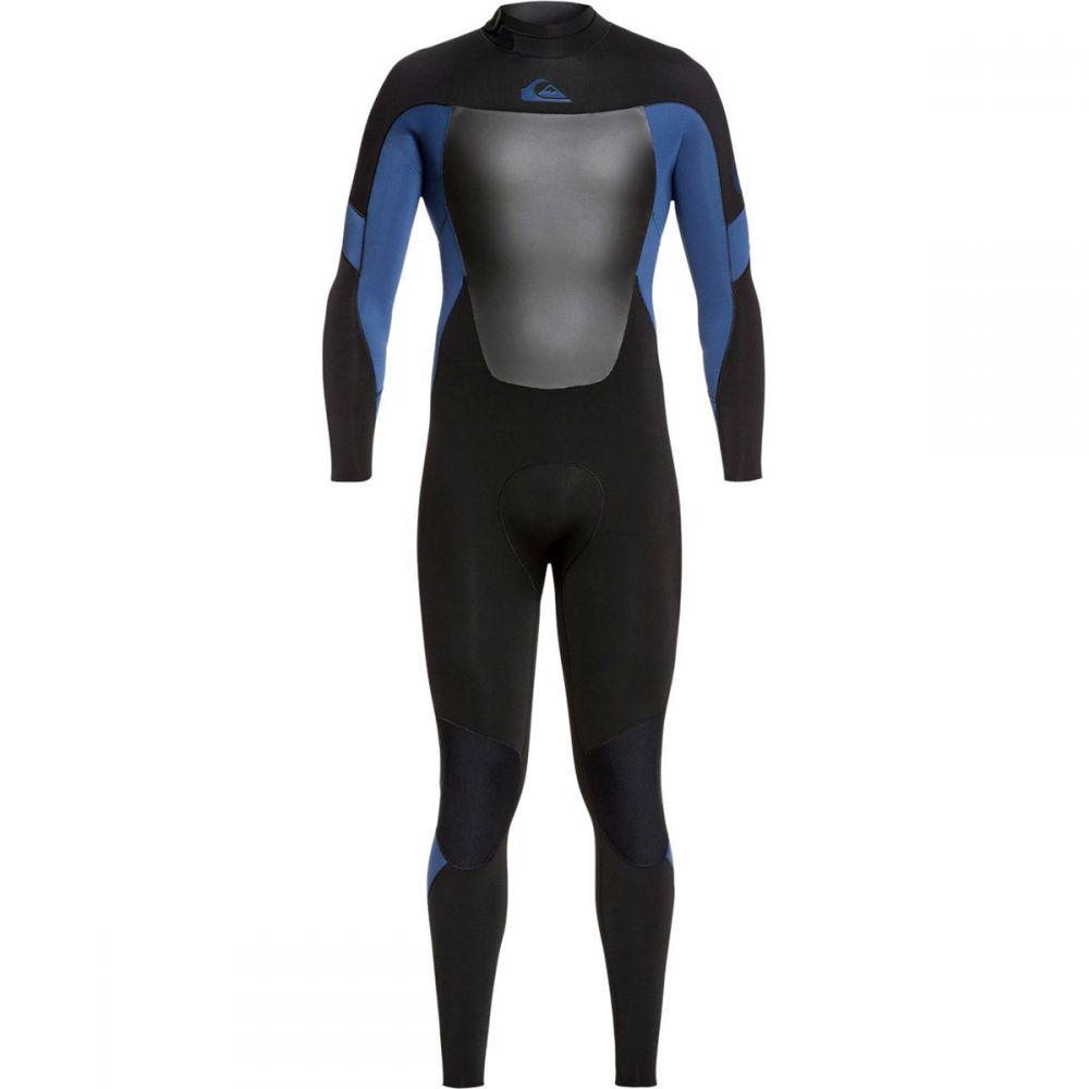 クイックシルバー Quiksilver メンズ ウェットスーツ 水着・ビーチウェア【3/2 Syncro Back Zip GBS Wetsuit】Black Black/Iodine Blue Iodine