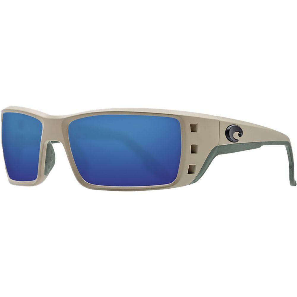 コスタ Costa レディース スポーツサングラス 【Permit 580G Polarized Sunglasses】Sand Frame/Blue Mirror