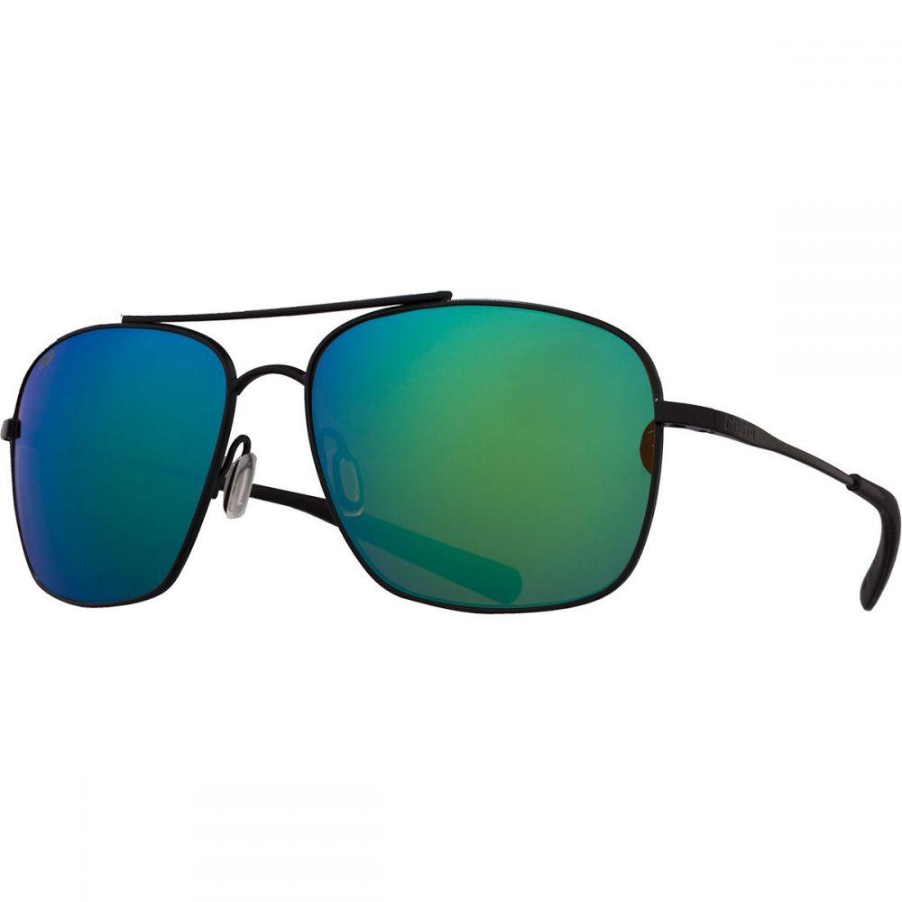 コスタ Costa メンズ メガネ・サングラス 【Canaveral 580P Polarized Sunglasses】Satin Black Frame/Green Mirror