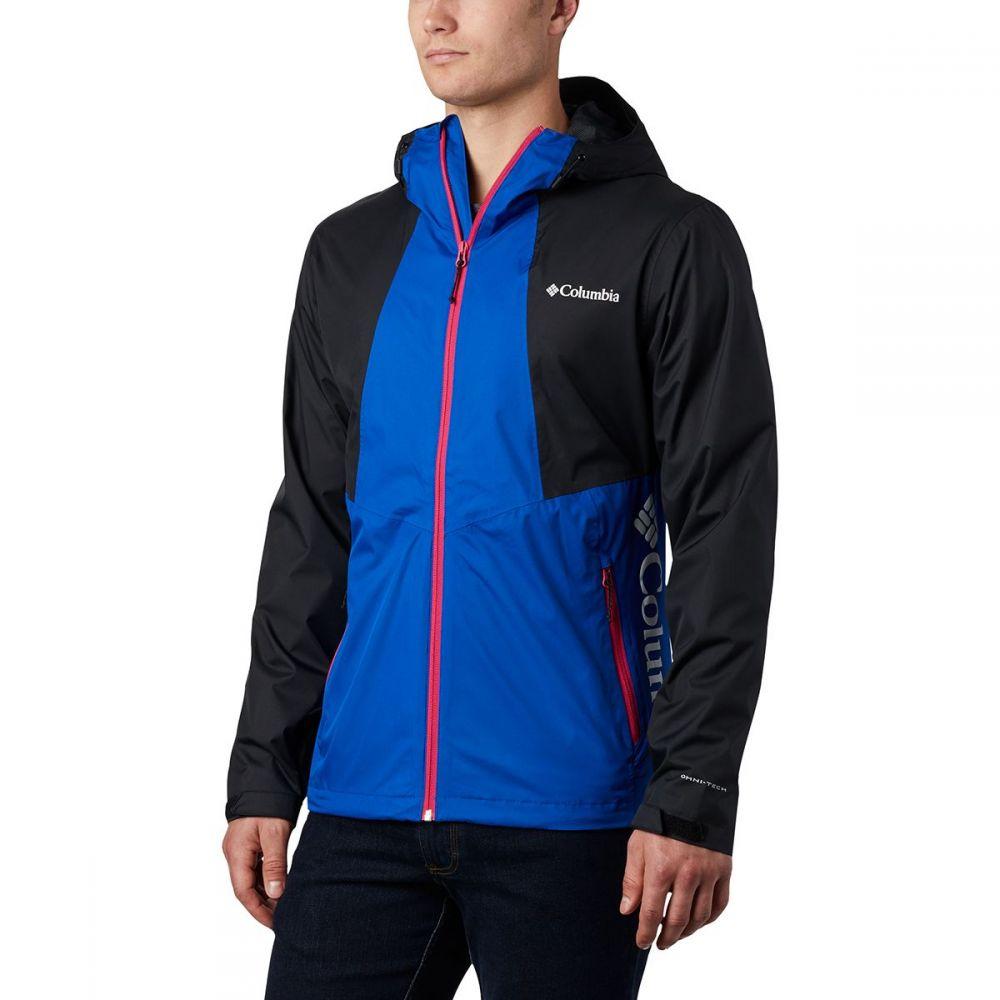 コロンビア Columbia メンズ レインコート アウター【Inner Limits II Jacket】Azul/Black