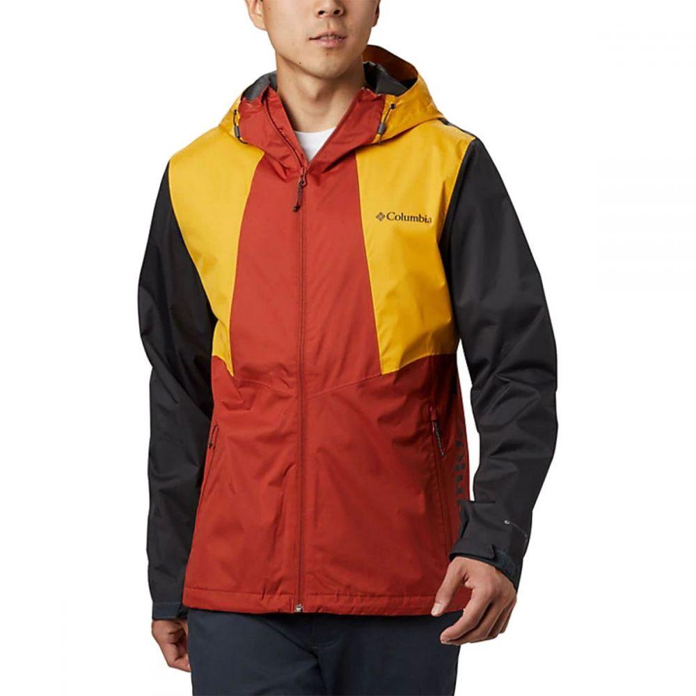 コロンビア Columbia メンズ レインコート アウター【Inner Limits II Jacket】Carnelian Red/Bright Gold/Shark