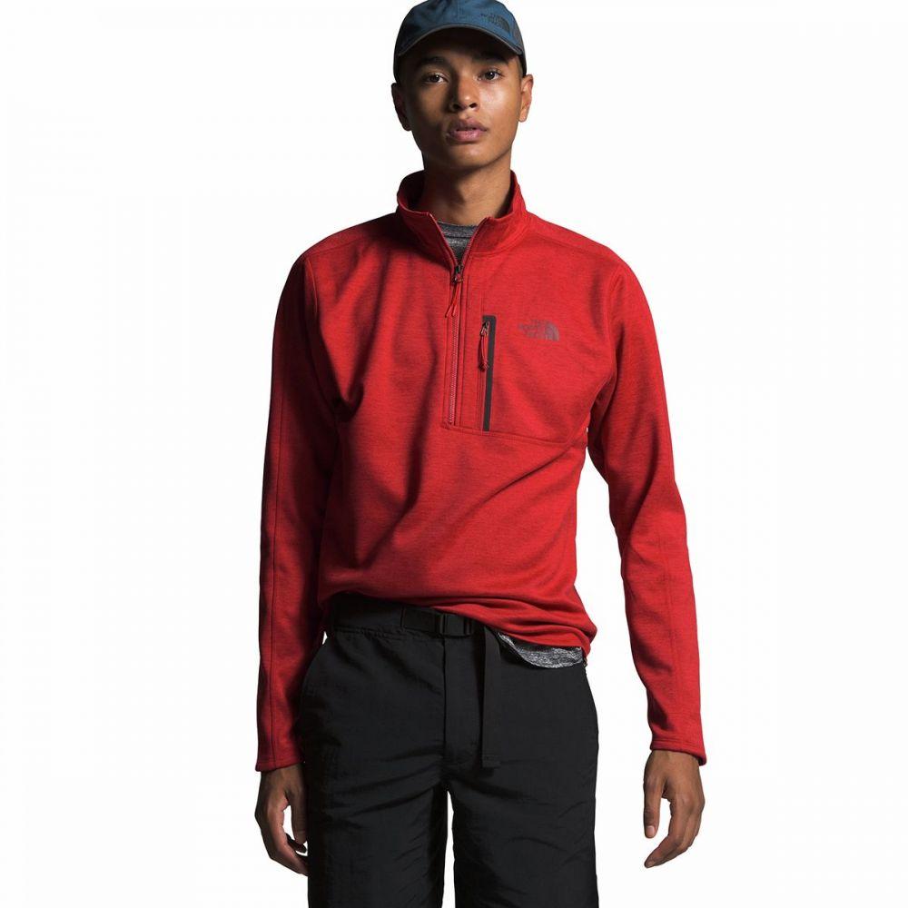 ザ ノースフェイス The North Face メンズ フリース ハーフジップ トップス【Canyonlands 1/2 - Zip Pullover Fleece Jacket】Pompeian Red Heather