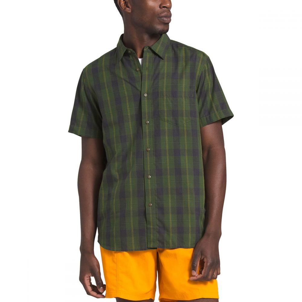 ザ ノースフェイス The North Face メンズ 半袖シャツ トップス【Hammetts Short - Sleeve Shirt】English Green Foothill Plaid