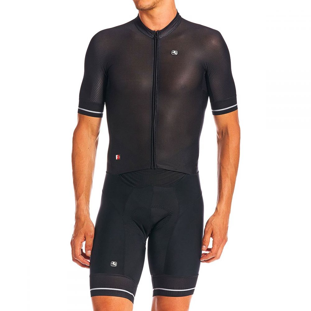ジョルダーノ Giordana メンズ トライアスロン トライスーツ ショートパンツ トップス【FR - C Pro Doppio Short - Sleeve Suit】Black