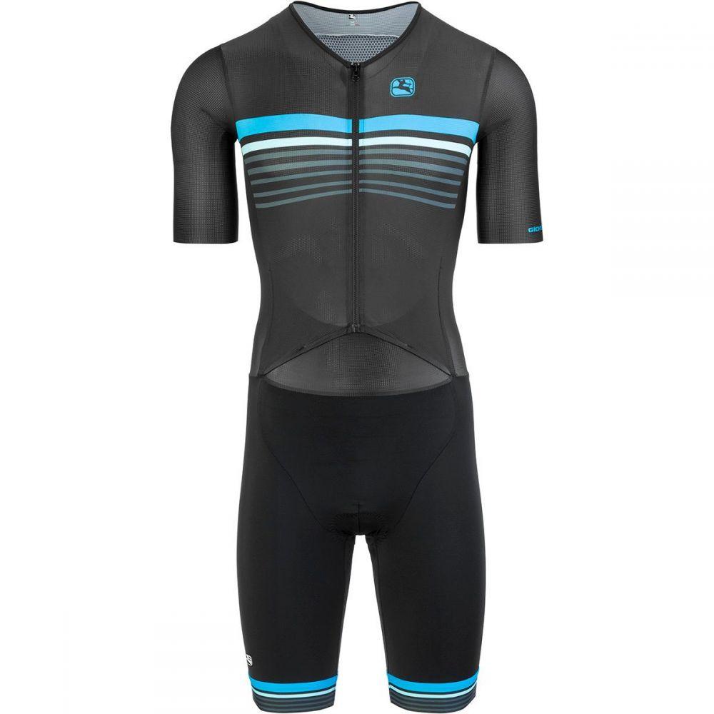 ジョルダーノ Giordana メンズ トライアスロン トライショーツ トップス【Vero Pro TRI Short Sleeve Doppio Suit】Black/Blue