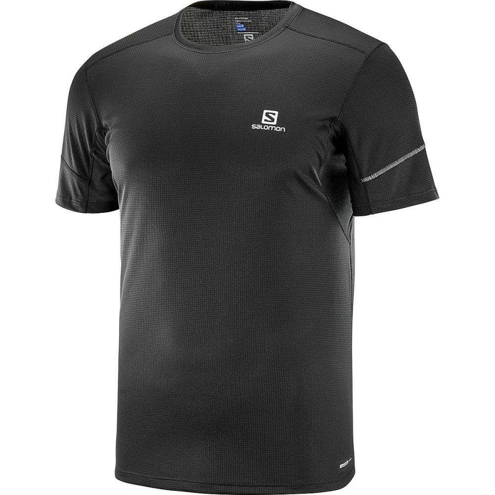 サロモン Salomon メンズ フィットネス・トレーニング ショートパンツ トップス【Agile Short - Sleeve T - Shirt】Black