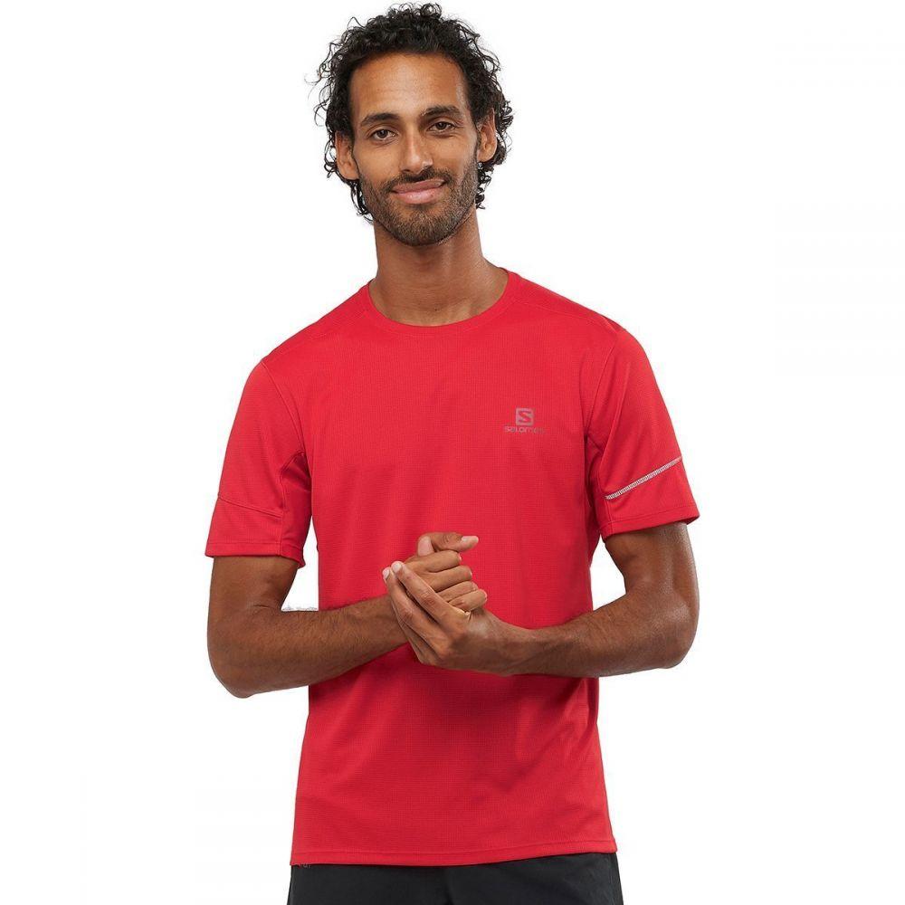 サロモン Salomon メンズ フィットネス・トレーニング ショートパンツ トップス【Agile Short - Sleeve T - Shirt】Goji Berry