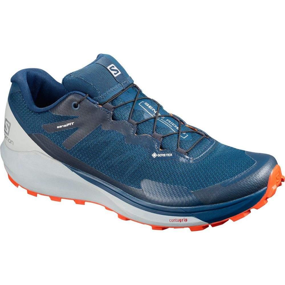 サロモン Salomon メンズ ランニング・ウォーキング シューズ・靴【Sense Ride 3 GTX Invisible Fit Trail Running Shoe】Poseidon/Pearl Blue/Cherry Tomato