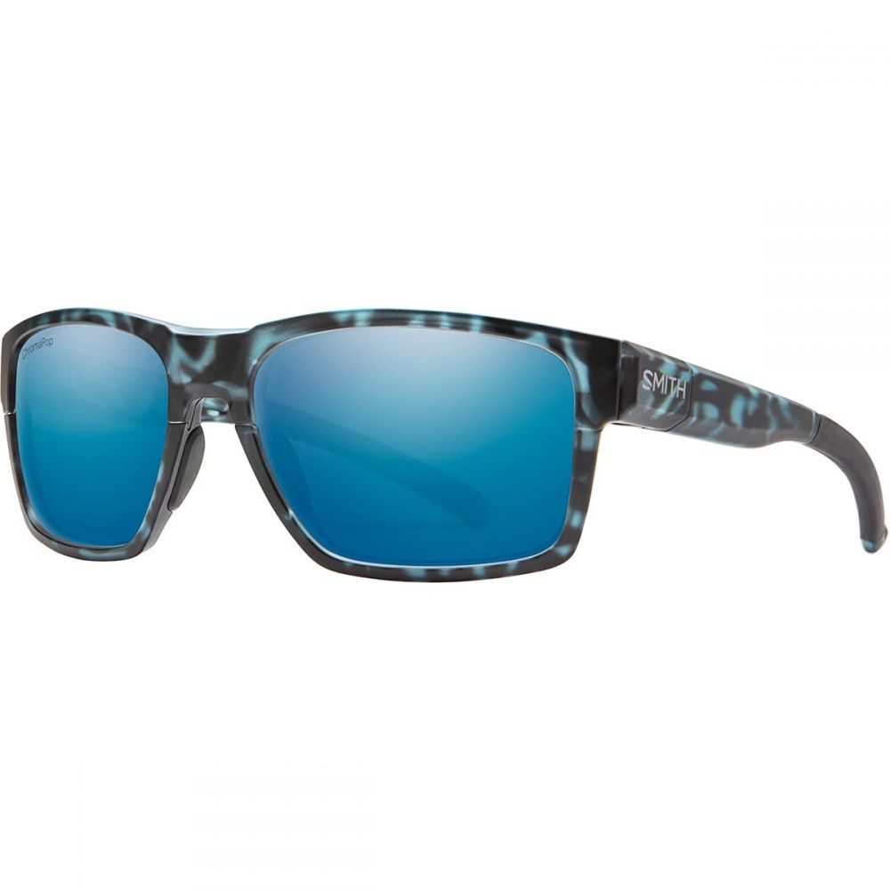 スミス Smith メンズ スポーツサングラス 【Caravan Mag Chromapop Polarized Sunglasses】Matte Black Ice Tort/Blue Mirror