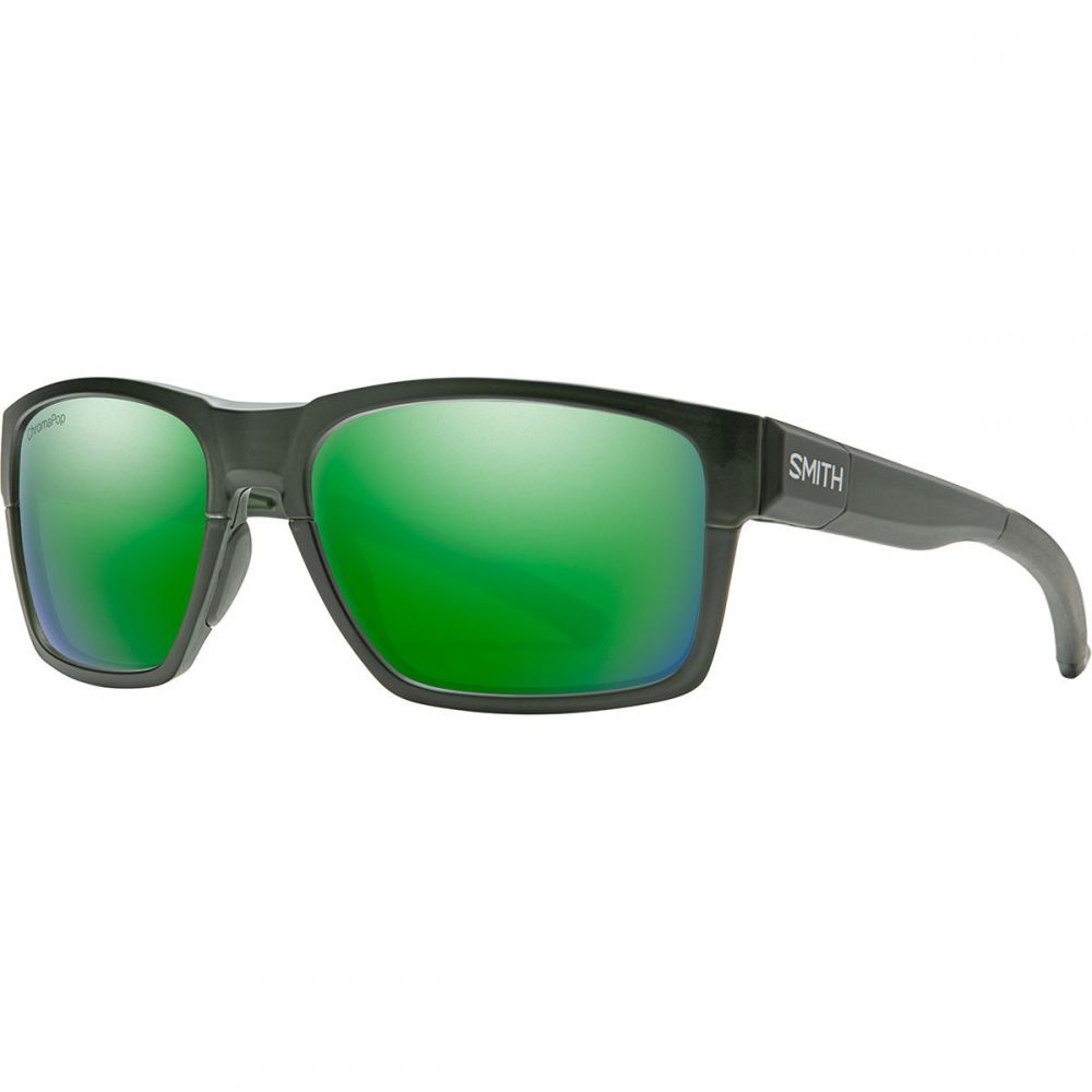 スミス Smith メンズ スポーツサングラス 【Caravan Mag Chromapop Polarized Sunglasses】Matte Crystal Elm Green/Green Mirror