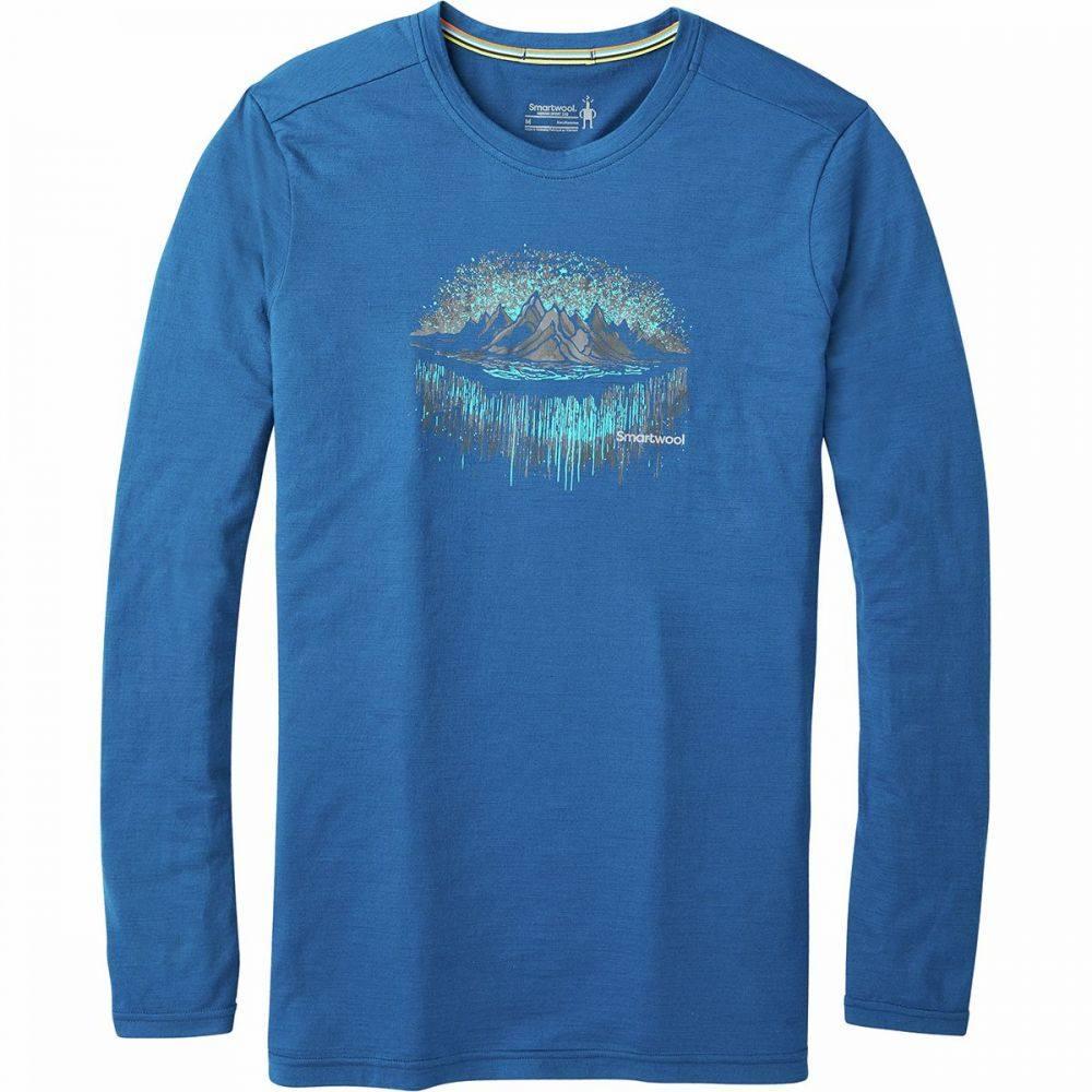 スマートウール Smartwool メンズ フィットネス・トレーニング トップス【Merino Sport 150 Mountain Aurora Long - Sleeve T - Shirt】Alpine Blue