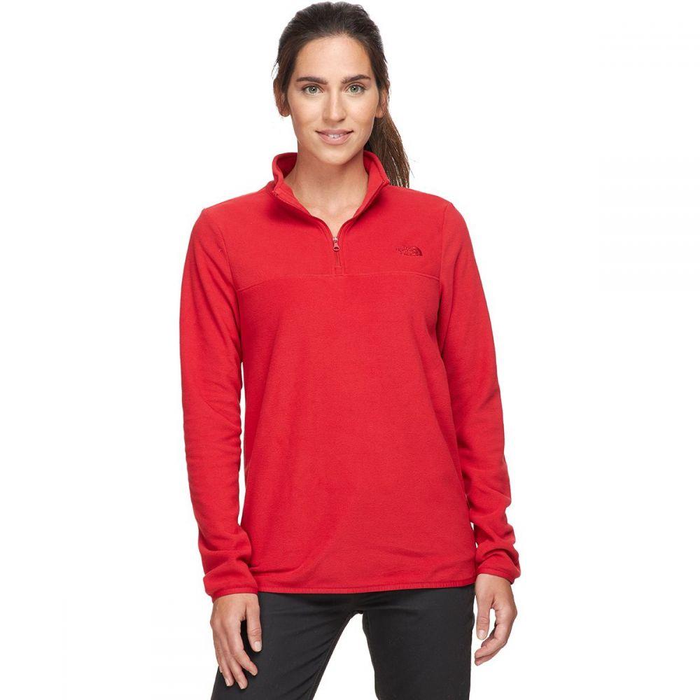 ザ ノースフェイス The North Face レディース フリース トップス【TKA Glacier 1/4 - Zip Fleece Pullover】Pompeian Red