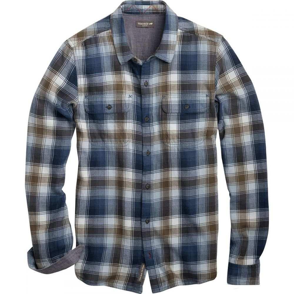 トードアンドコー Toad&Co メンズ シャツ フランネルシャツ トップス【Indigo Flannel Slim Long - Sleeve Shirt】Weathered Blue