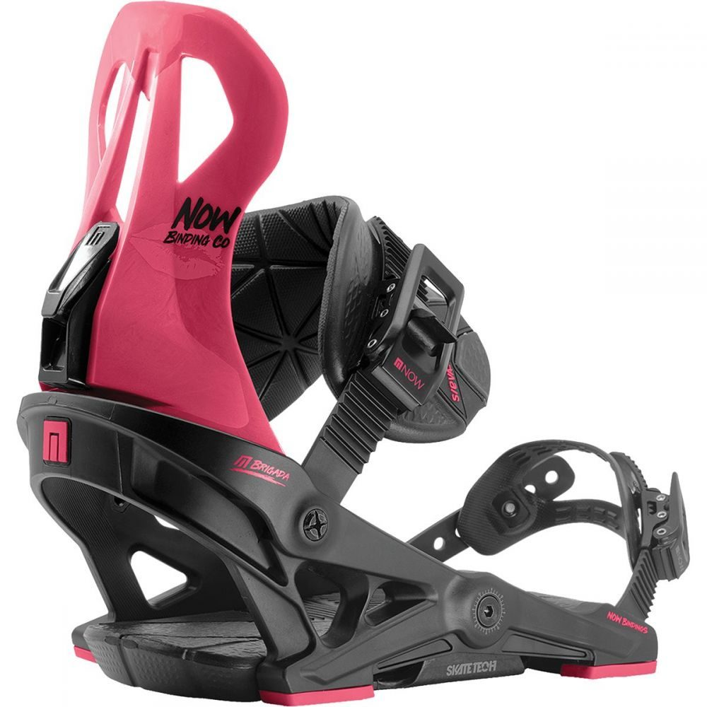 ナウ Now レディース スキー・スノーボード ビンディング【Brigada Snowboard Binding】Black/Pink