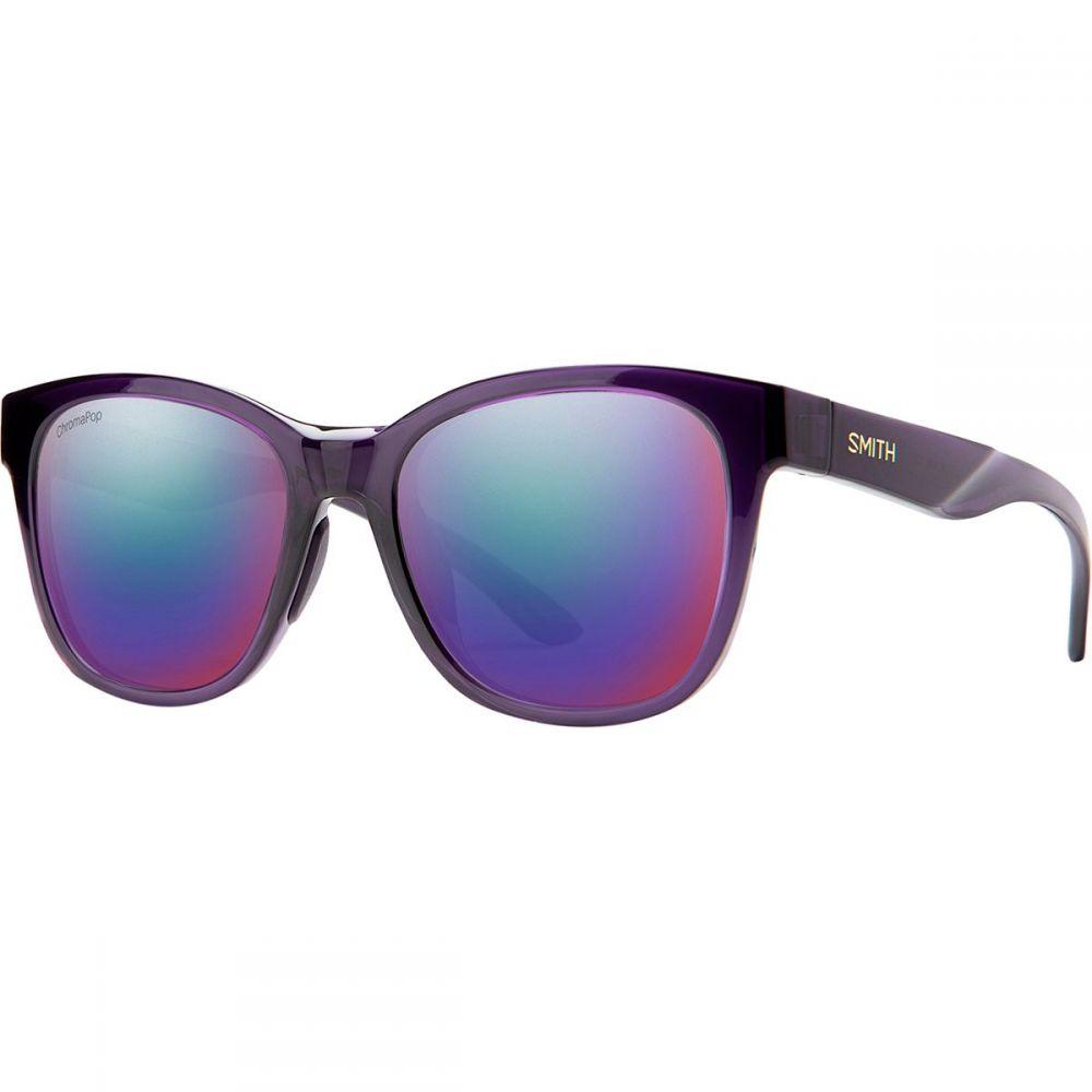 スミス Smith レディース メガネ・サングラス 【Caper Chromapop Polarized Sunglasses】Crystal Midnight/Violet Mirror Polarized