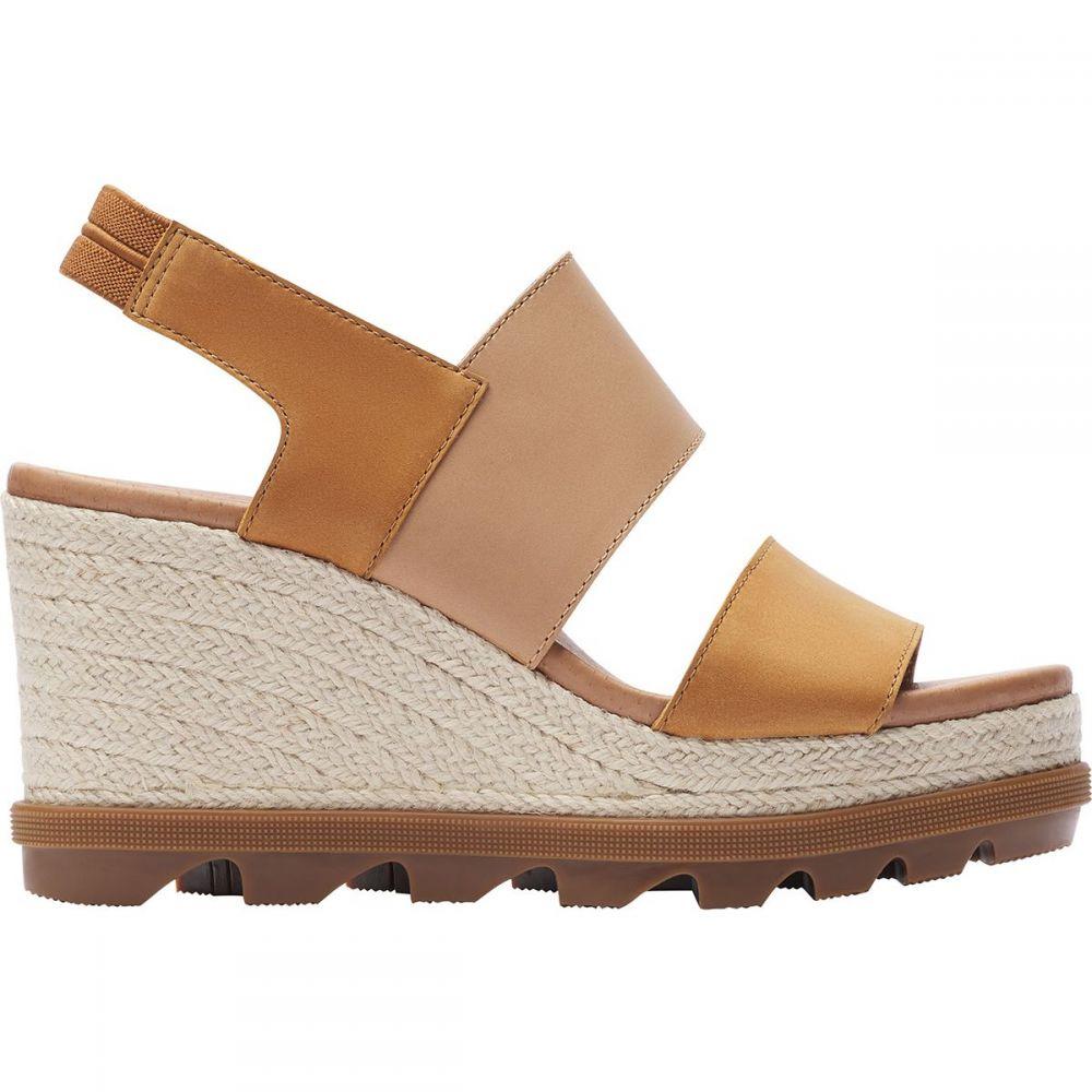 ソレル Sorel レディース サンダル・ミュール シューズ・靴【Joanie II Slingback Jute Sandal】Camel Brown