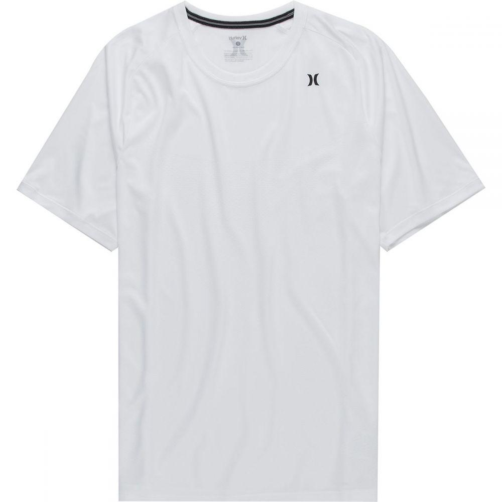 ハーレー Hurley メンズ フィットネス・トレーニング ショートパンツ トップス【Quick Dry Warp Knit Short - Sleeve Shirt】White
