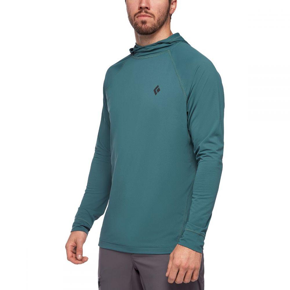 ブラックダイヤモンド Black Diamond メンズ フィットネス・トレーニング トップス【Alpenglow Hooded Shirt】Raging Sea