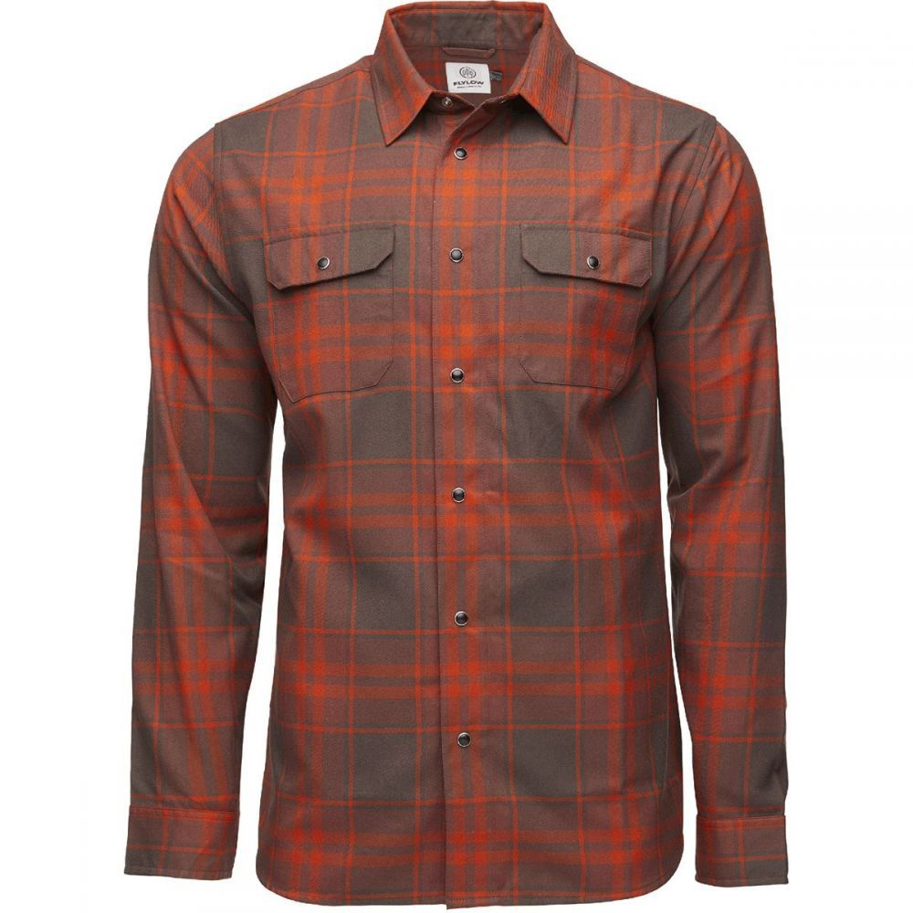 フライロウ Flylow メンズ シャツ フランネルシャツ トップス【Handlebar Tech Flannel Shirt】Bison/Oxide Plaid