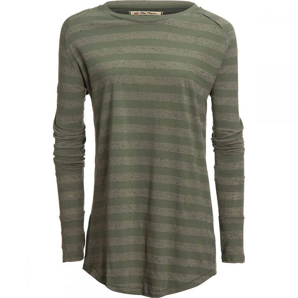 フリーピープル Free People レディース 長袖Tシャツ トップス【Arden Stripe T - Shirt】Olive