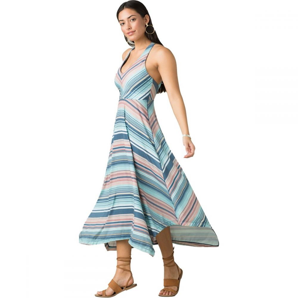 プラーナ Prana レディース ワンピース マキシ丈 ワンピース・ドレス【Josepina Maxi Dress】Teal Pontoon