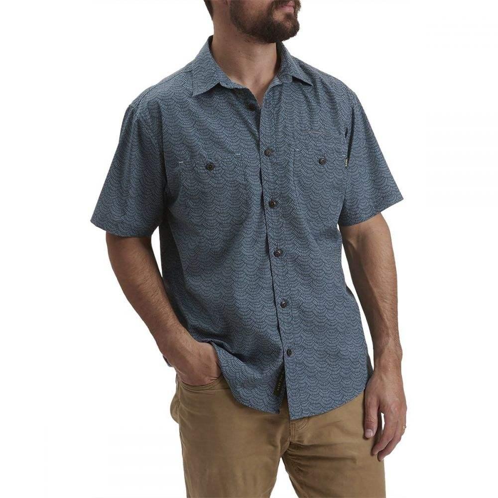 ホウラーブラザーズ Howler Brothers メンズ シャツ トップス【Aransas Shirt】Tarpon Scale Petrol Blue