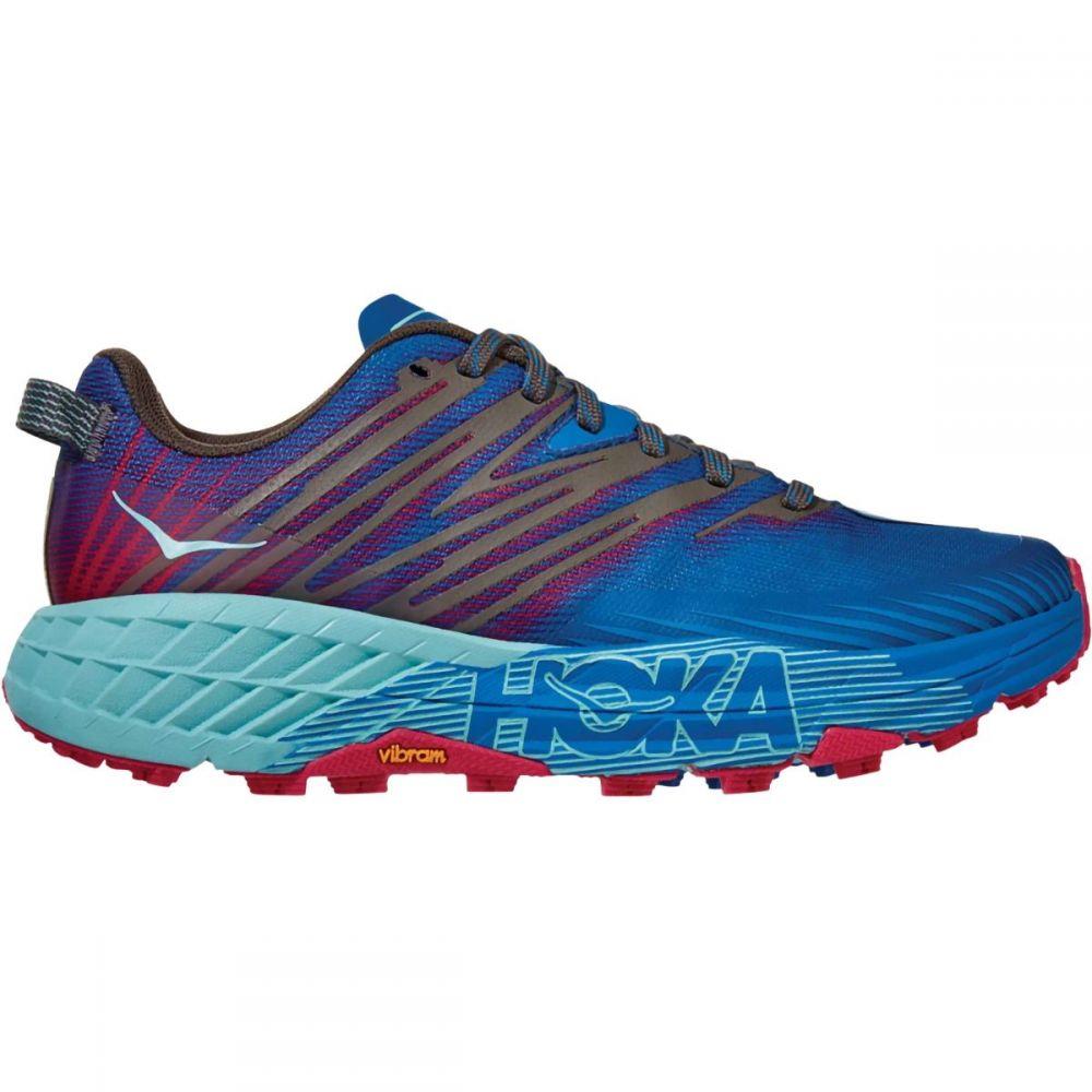 ホカ オネオネ HOKA ONE ONE レディース ランニング・ウォーキング シューズ・靴【Speedgoat 4 Trail Running Shoe】Imperial Blue/Pink Peacock
